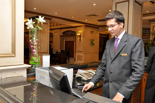 Hotel Management trainee working at the front desk at the Pearl Continental Hotel Rawalpindi 8 | by Hashoo Foundation USA - Houston, TX