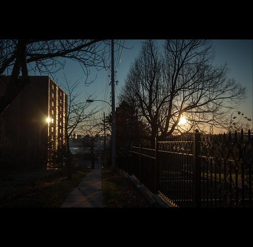 november autumn trees sunset sun canada reflection building tree sunshine fence nikon novascotia gimp pole nikkor dartmouth lightroom 1685 d5000 lightroom3 1685mm nikkor1685 nikkor1685mm nikond5000