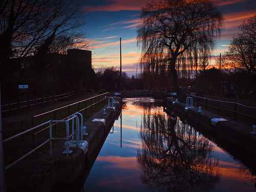 Hertford Canal Lock Sunset | by The Nick Page