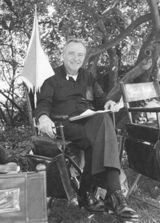 """Actor Jack Lemmon at Pomona College during the filming of """"Mass Appeal"""" in 1983"""