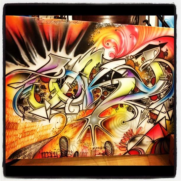 Coky Canvas Graffiti Airbrush Art Style Streetart U