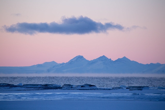 Sunset in Svalbard/Spitsbergen