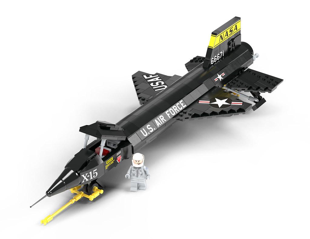 X-15 Rocket Plane in LEGO | Credit to the Brickmania team fo