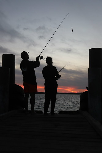 black white silhouette fishing jetty sunset