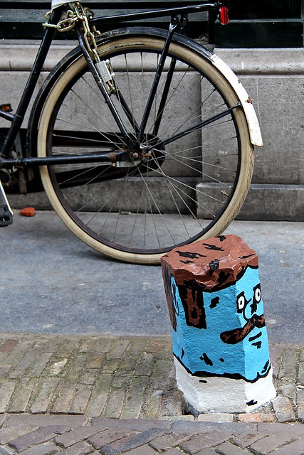 Bollard and Bicycle