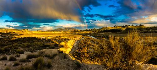 rambla naturaleza nature españa murcia landscape paisaje puestadesol cielo clouds panorámica sunset