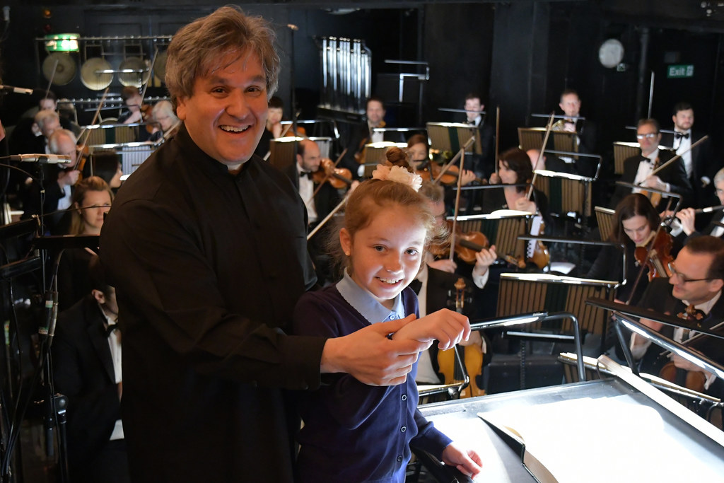 Music Director Antonio Pappano at a Schools Matinee of Madama Butterfly © 2017 ROH. Photographed by Belinda Lawley