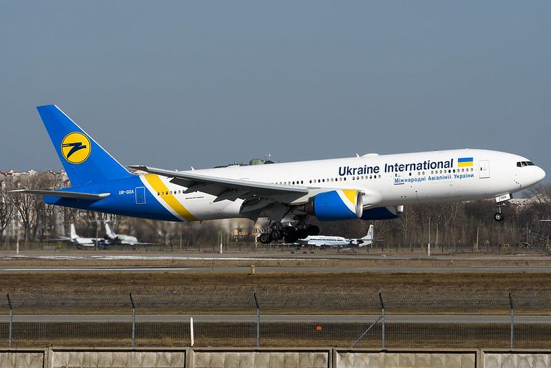 Ukraine International Boeing 777-200ER UR-GOA
