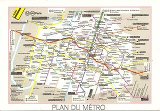 France - Paris (Metro map)