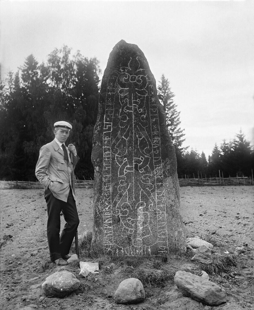 Rune stone, Badelunda, Vstmanland, Sweden | Student at a