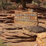 Cassidy Arch Trail Head