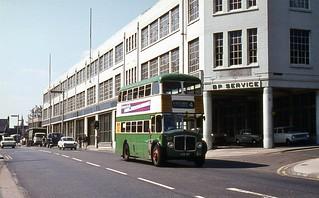 SDX 57, Ipswich AEC Regent V No. 57, Electric House, c1971.