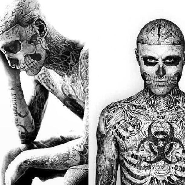 Man Guy Boys Zombie Tattoo Tatuagem Cuteman Pierci Flickr
