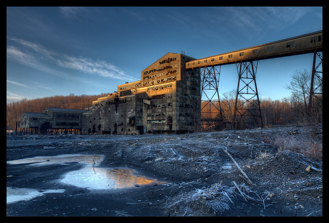 Abandonded Coal Breaking Plant, Early Morning Frost