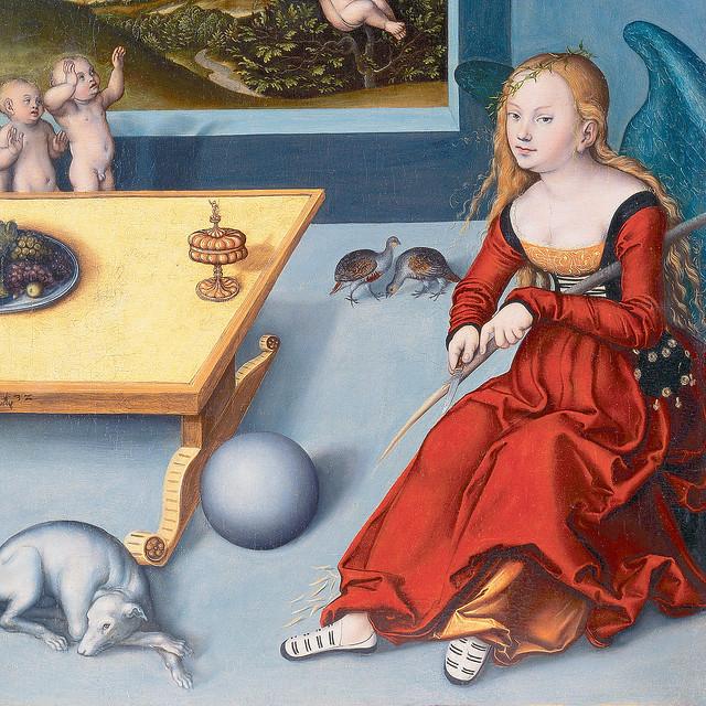 Cranach dÄ - The Melancholy, detail [1532]