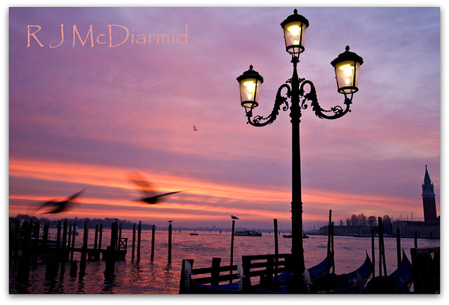 Venetian Lamps at sunrise
