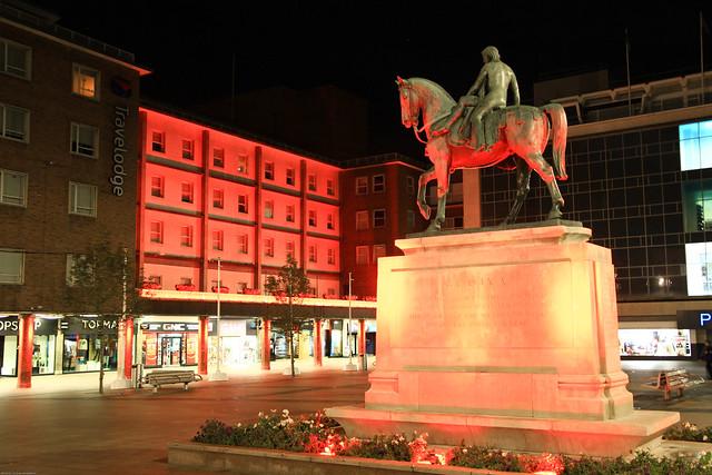 Lady Godiva Statue Broadgate square Coventry