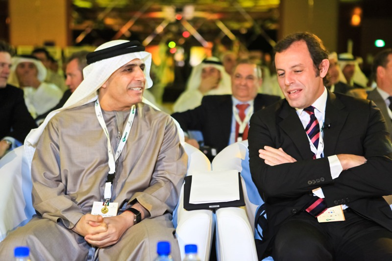 Mattar Al Tayer and Sandro Rosell