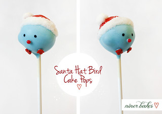 Santa Hat Birdie Cake Pops: Tutorial | by niner bakes