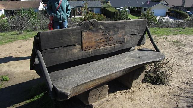 IMG_4501 Hurston Buck memorial bench Coronado butterfly preserve