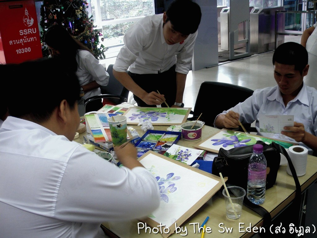 Thailand Education Teachers Students School University Classroom Studying Learning Activities water color painting