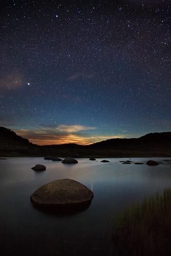 charlottepass clouds creek landscape mountains night rock river sky snowymountains stars starfield thredboriver water spencerscreek kosciuszkonationalpark newsouthwales nsw australia fh ig