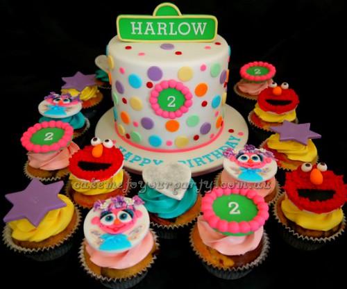 Awe Inspiring Sesame Street Cake With Elmo And Abby Cadabby Cakemeto Flickr Funny Birthday Cards Online Necthendildamsfinfo