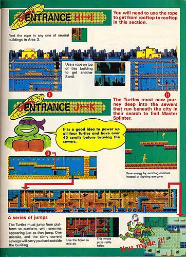 "NINTENDO POWER ::  MAY/JUNE 1989 // Vx p.15 "" TEENAGE MUTANT NINJA TURTLES "" { original review } by tOkKa"