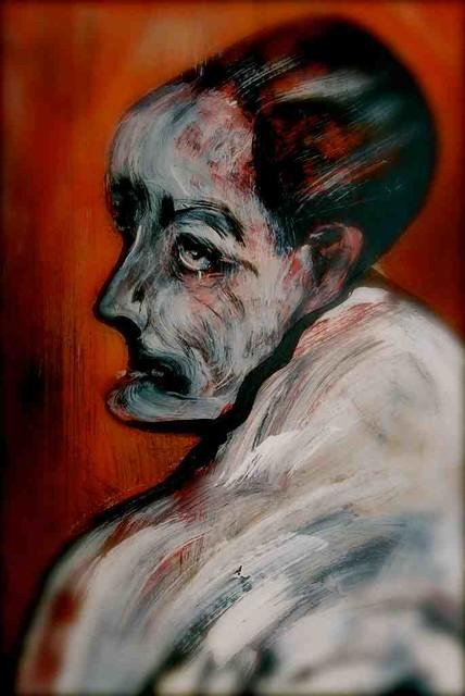 paintings on stretched black velvet, vintage art by Stefan Krikl*