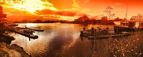 sunset panorama vancouverisland pacificnorthwest