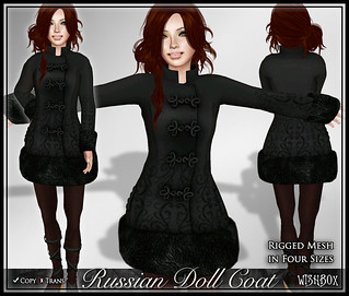 Russian Doll Coat (Black) | by Wisp Jinn [Wishbox]