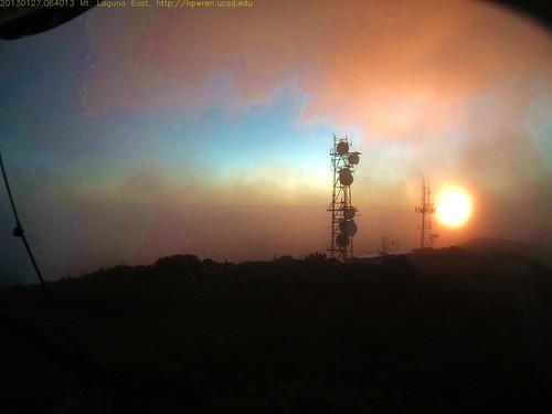 sun silhouette sunrise mountlaguna hpwren mountlagunaeastview