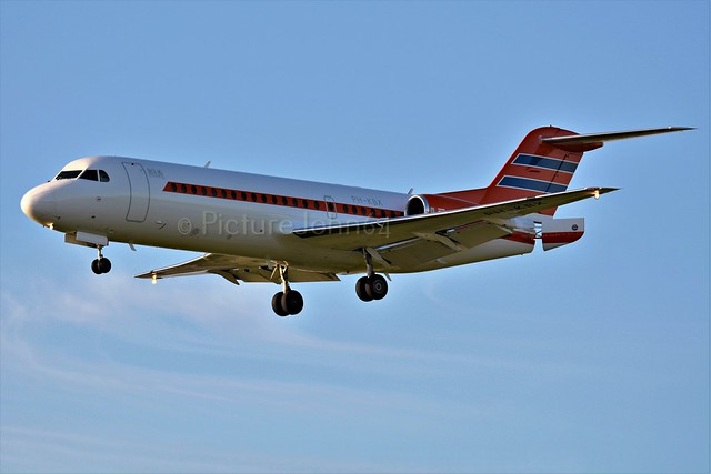 Netherlands Government Fokker 70 (PH-KBX) landing at Schiphol Amsterdam
