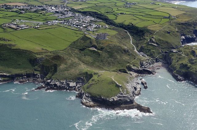Camelot Castle Hotel in Tintagel - Cornwall aerial view