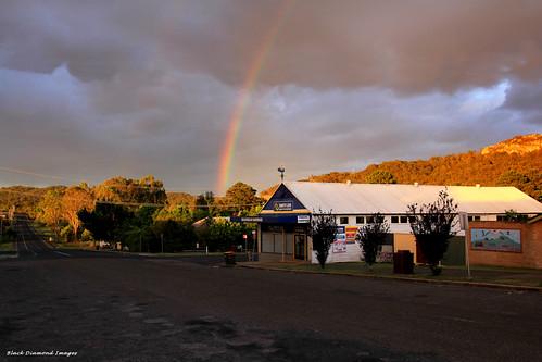 storm rainbow australia greatlakes nsw bulahdelah afternoonlight bdi 11thnovember2012 bulahdelahhardware