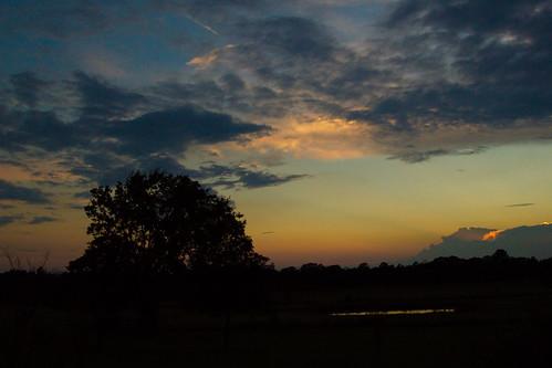 sunset sky sun clouds texas
