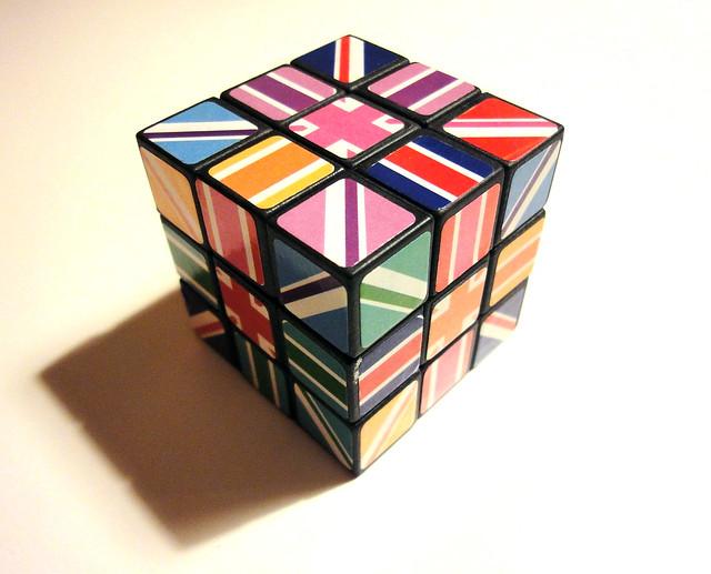 union flag rubiks cube