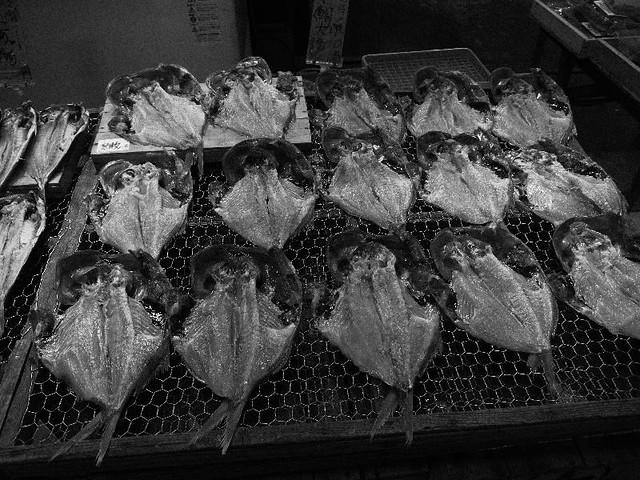 Semi-dried fishes