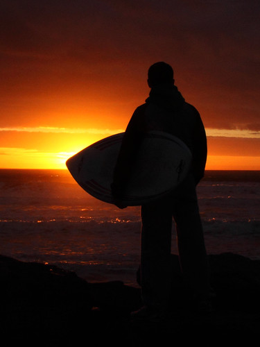 ireland sunset surfing donegal rossnowlagh