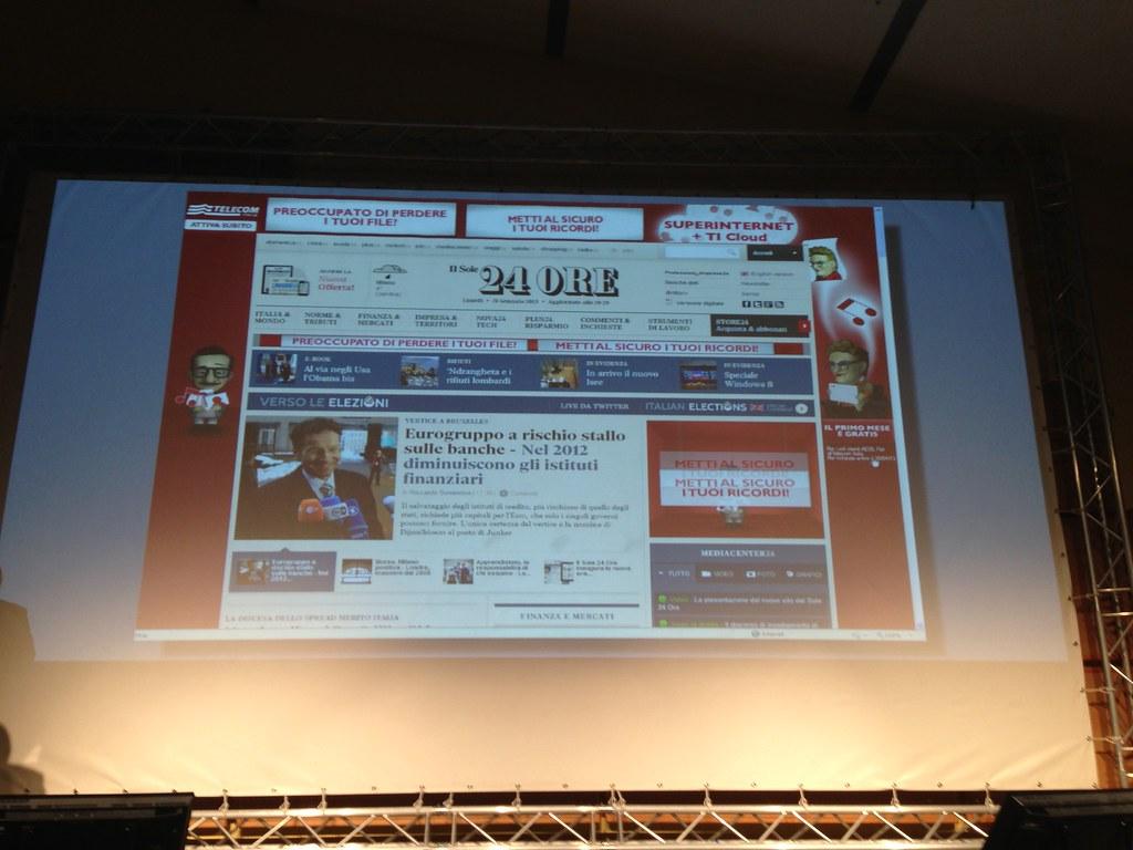 Lancio del nuovo sistema editoriale integrato del sole 24 ore compreso il nuovo sito e la nuova versione su iPad