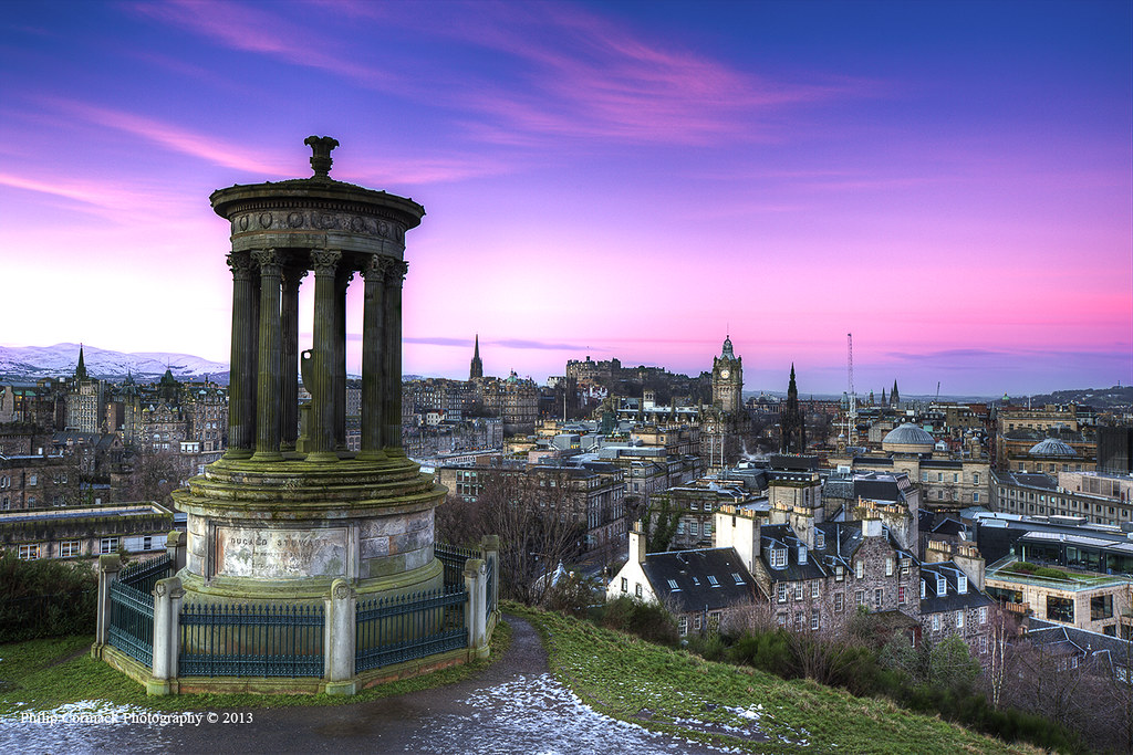 Dugald Stewart Monument at Sunrise