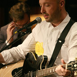 Sun, 20/01/2013 - 9:45pm - Music, wine and food in an evening to benefit WFUV Public Radio. The Highline Sessions at Del Posto are hosted by Rita Houston and Joe Bastianich. January 20, 2013. Photo by Laura Fedele