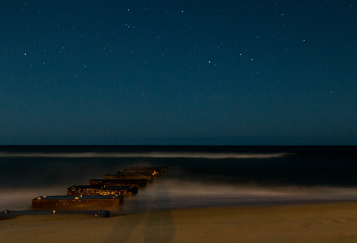 beach shore night sky longexposure stars water waves obx vacation travel travelphotography summer beacheslandscapes