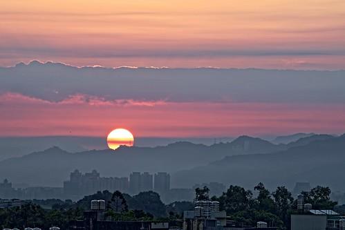 2016 08 aug 八月 sunrise 深耕九 深耕9 森悅家 日出 c2 八德 8f sun 太陽 bade