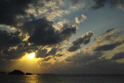 sunset japan okinawa kise nago 日没 沖縄県 名護市 dp2merrill 喜瀬