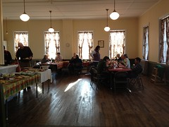 Ruritan hall set up for dinner