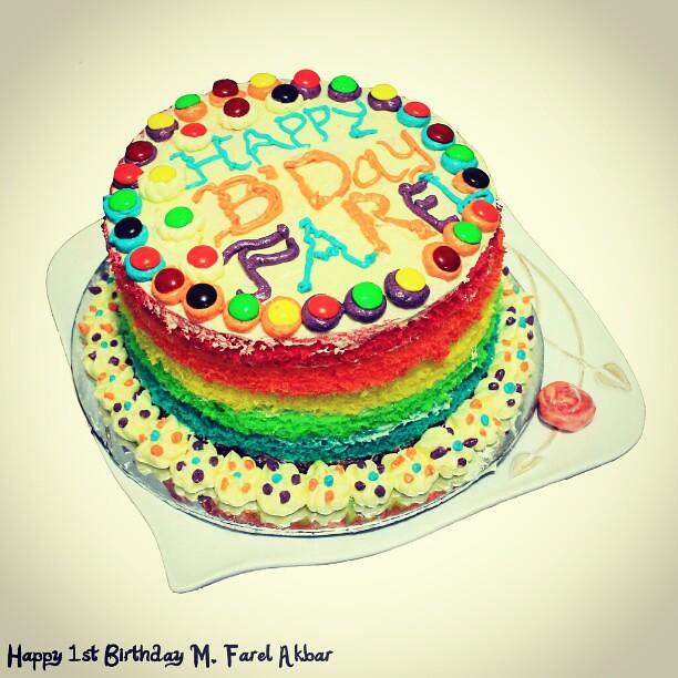 Happy 1st Birthday My Son Rainbow Cake Rainbowcake All Shots