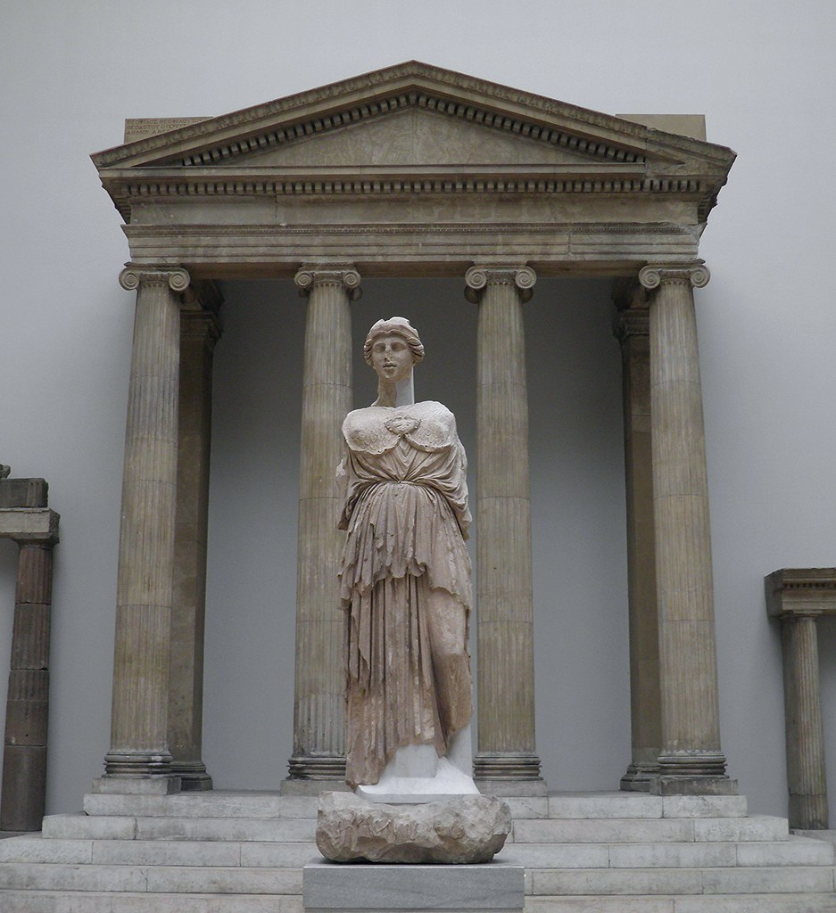 Statue of Athena Parthenos from the Library of Pergamon wi ...