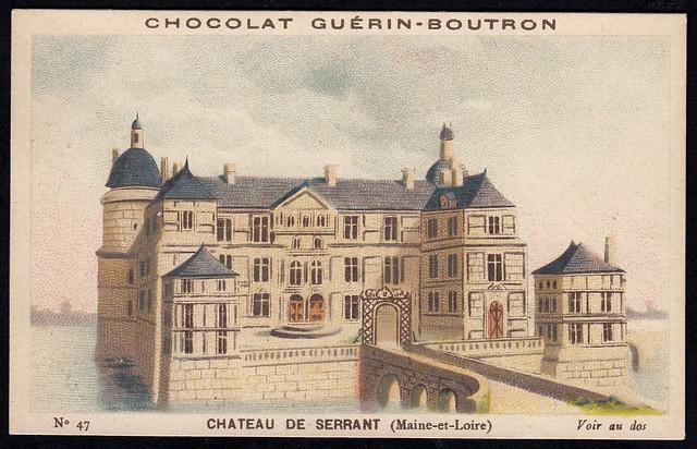 French Tradecard - Chateau de Serrant