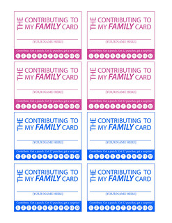 Contributing to my family punch card   by heidpier39